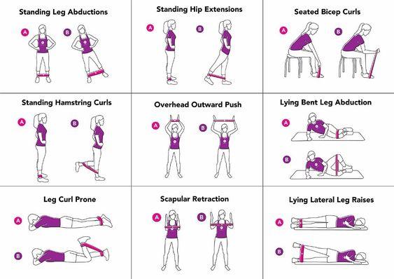Power Band Leg Exercises Example